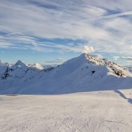 Auf der Skiroute Sünserjoch