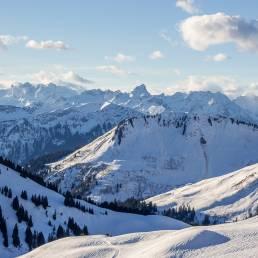 Alpenhauptkamm im Föhnsturm