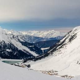 Dramatische Wolkendecke aus Richtung Vorarlberg