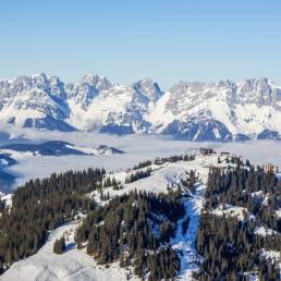 Blick vom Pengelstein in Richtung Wilder Kaiser