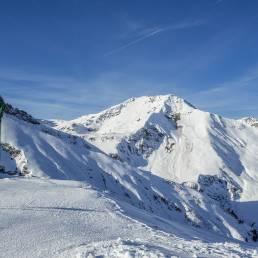 Am hintersten Ende des Skigebiets