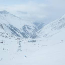 Für heute tiefster Punkt des Skigebiets: Mittelstation Fernau