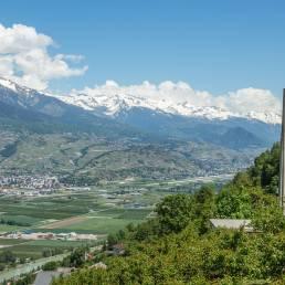 Wenige Höhenmeter über dem Rhonetal