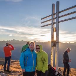 Die Welzels am Gipfelkreuz