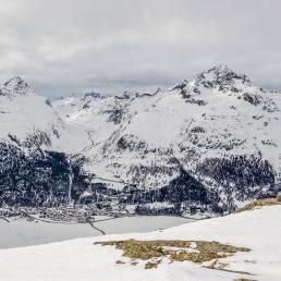 Blick vom Gian d'Alva in Richtung Julierpass.
