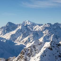 Einmal mit Schwiegermama ganz nach oben: Mont Fort Blickrichtung Mont Blanc.