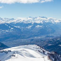 Blick vom Bellalui Richtung Sion und Nendaz.